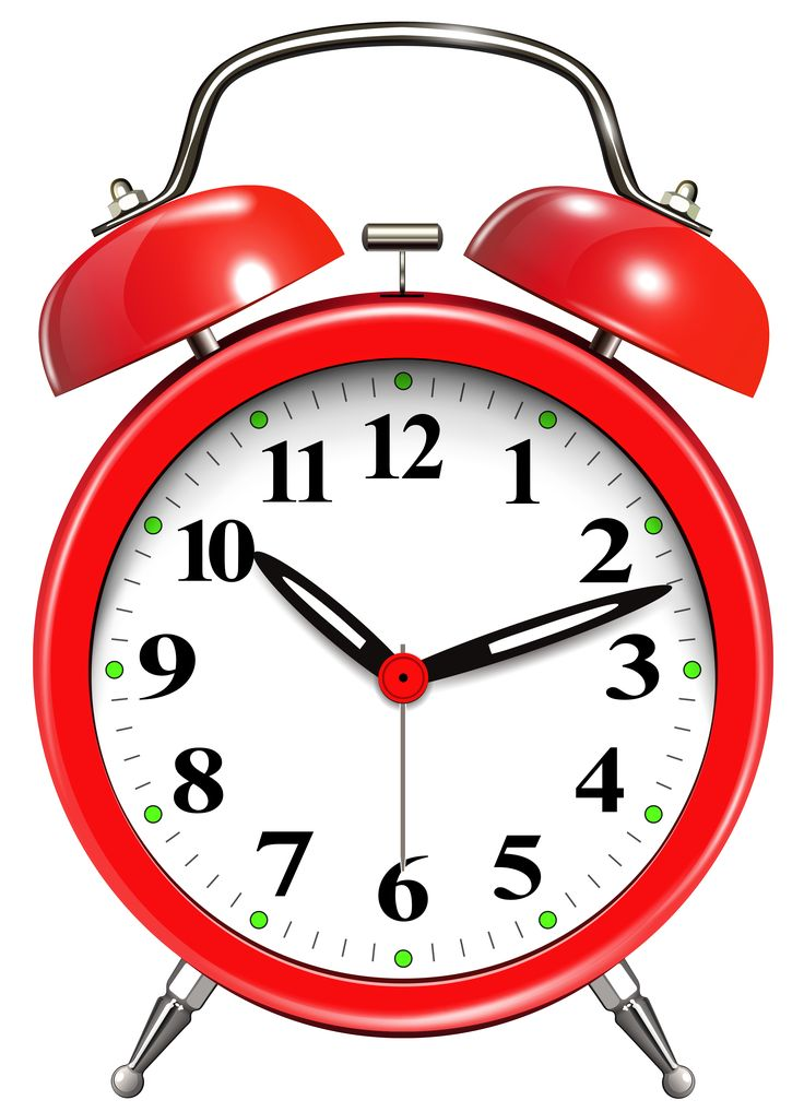 Alarm Clock Red PNG Clip Art - Clock PNG