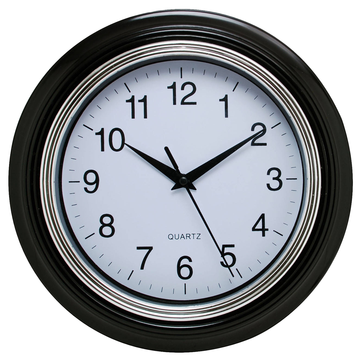Black Wall Clock PNG Image - Clock PNG