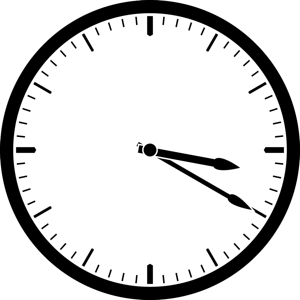 Black Wall Clock PNG Image