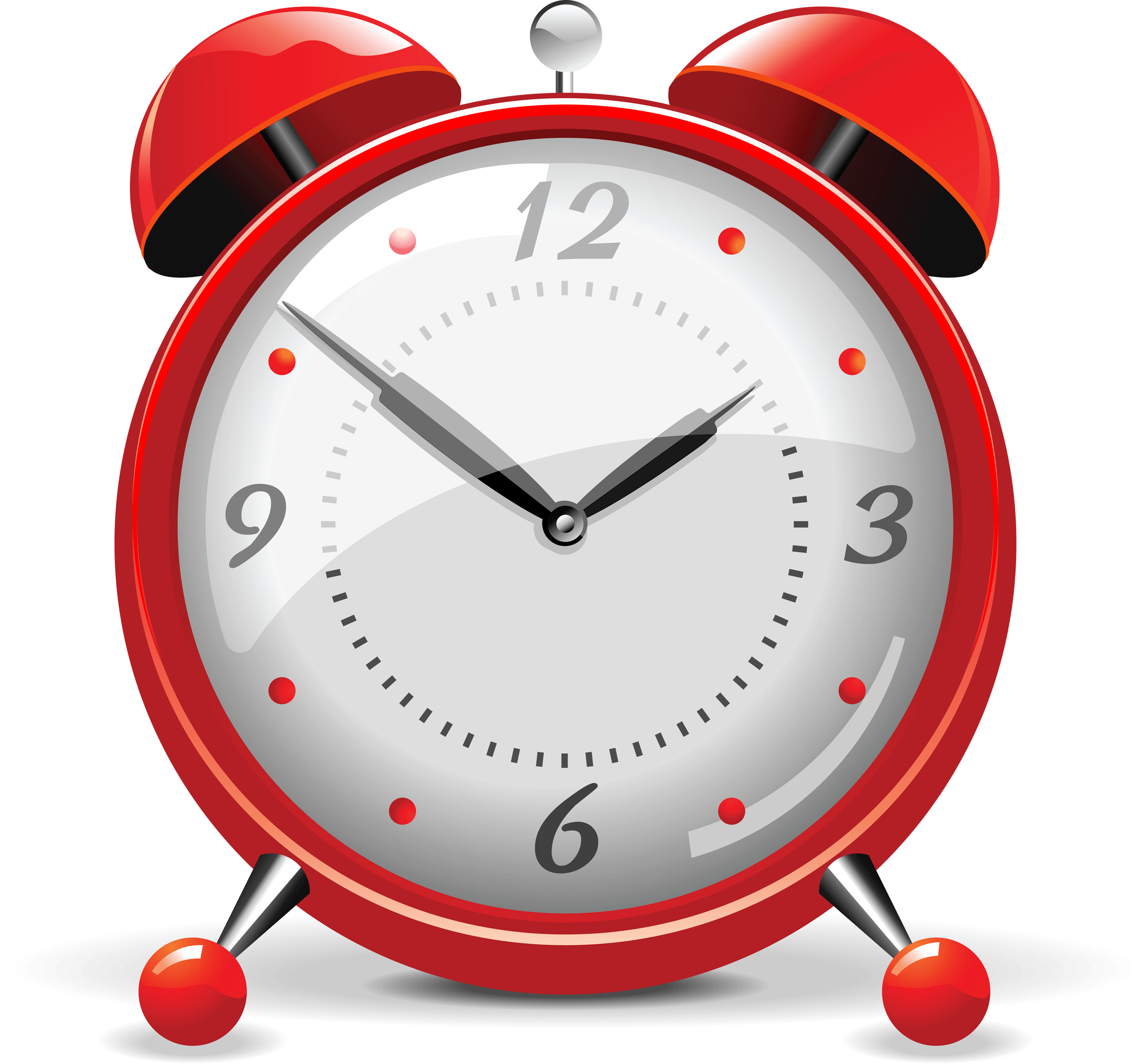 Alarm Clock Red PNG Clip Art