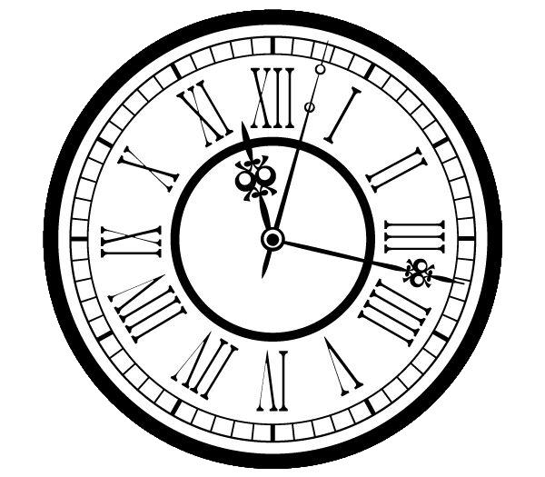 Vintage Clock - Clock PNG