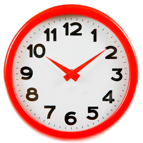 . PlusPng.com Wall Clock Png, Home Wall Clock Png, Red-white Wall Clock Images With  PlusPng.com  - Clock PNG