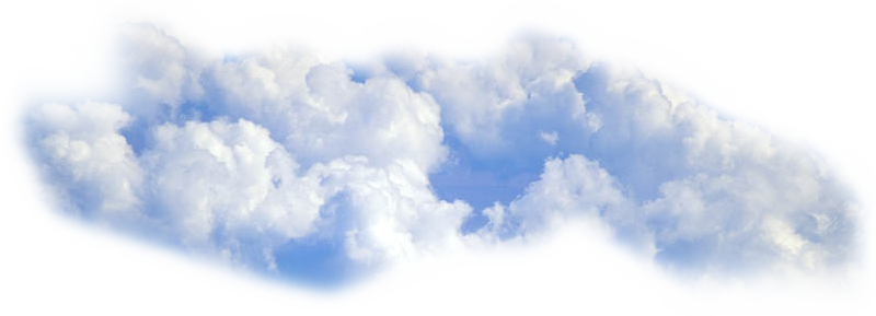 Cloud Png Blue-White