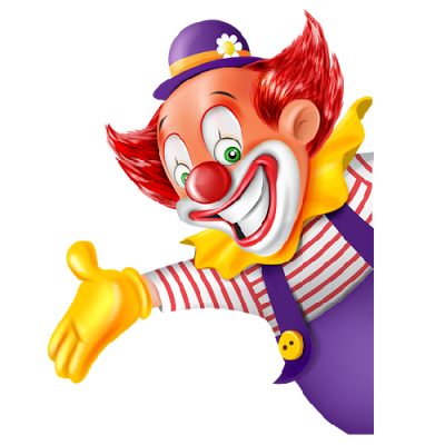 funny_clowns_with_blue_ hat.png. funny_clowns_with_blue_  hat_and_yellow_gloves - Clown PNG