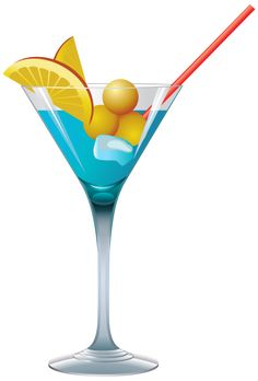 Blue Cocktail PNG Clipart - Cocktail PNG