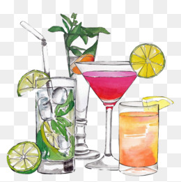 Cartoon Cocktail, Cocktail, Fruit Juice, Drink PNG Image - Cocktail PNG HD