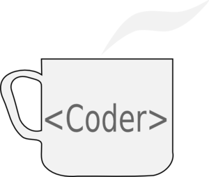 Mug With Coder Clip Art - Coder PNG