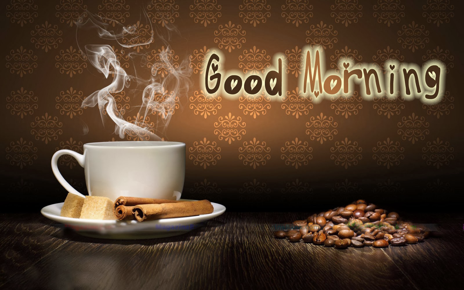 Good Morning With Coffee Cup HD Wallpaper - Coffee Morning PNG HD