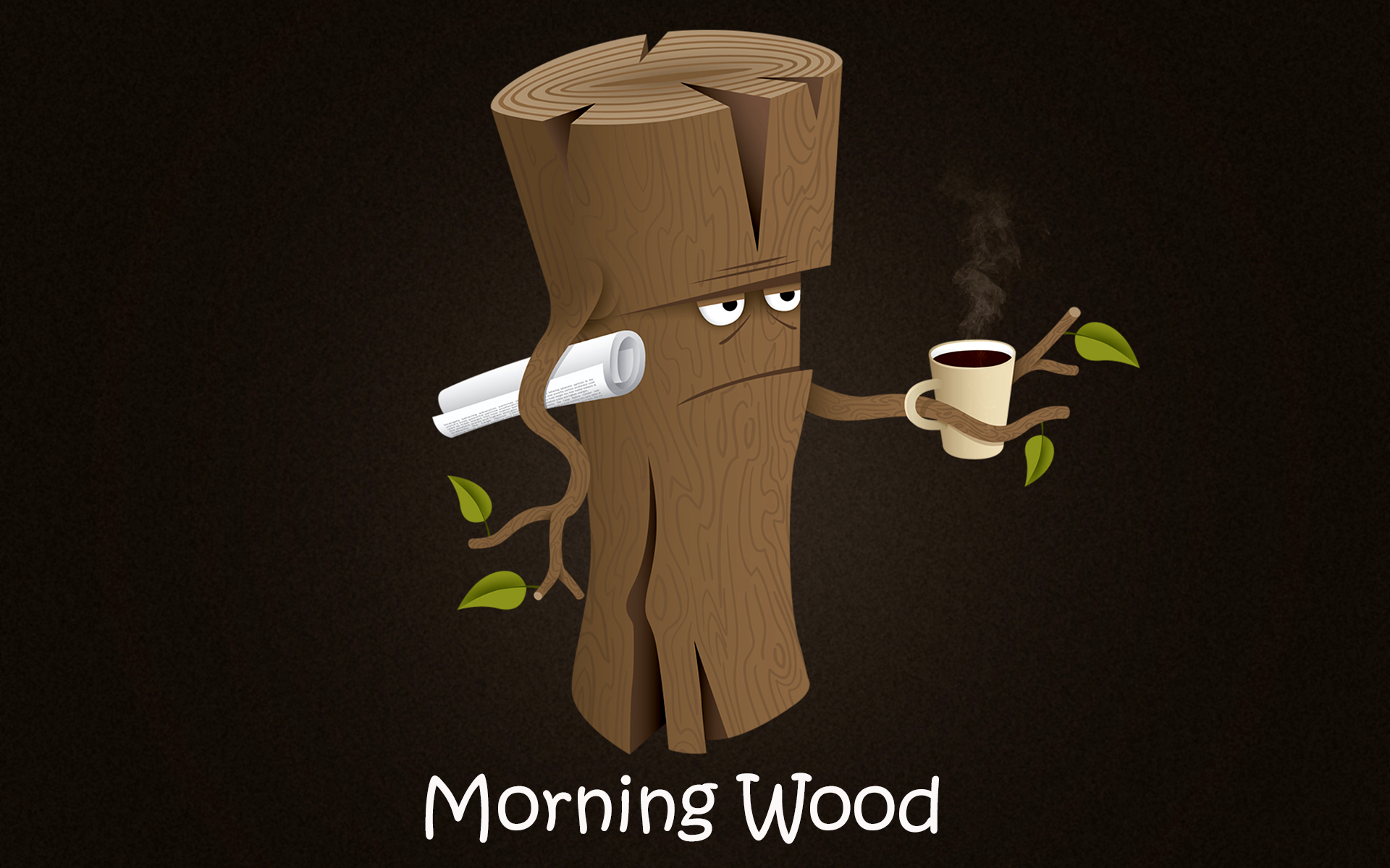 illustration quote wood cartoon coffee morning log lighting hand product - Coffee Morning PNG HD