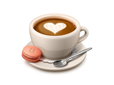 60 Amazing Examples of Icon Design - Coffee Mug With Heart PNG