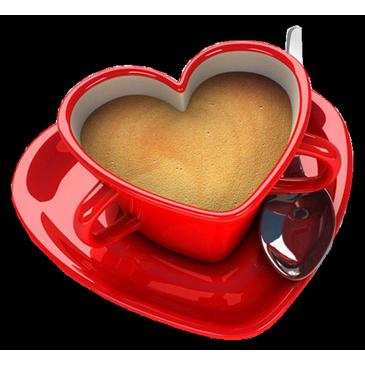 Coffee Mug With Heart PNG - 79515