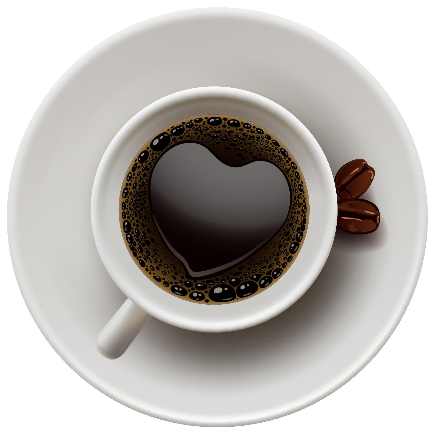 Coffee Mug With Heart PNG - 79514
