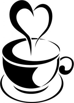 Coffee Mug With Heart PNG - 79516