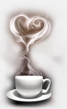 Coffee heart-shaped smoke, Coffee, Mug, Drink Free PNG Image - Coffee Mug With Heart PNG