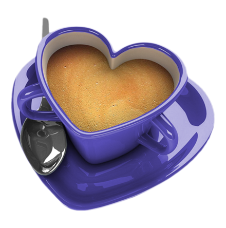 Heart shaped coffee cup, lovely ~ for two! - Coffee Mug With Heart PNG
