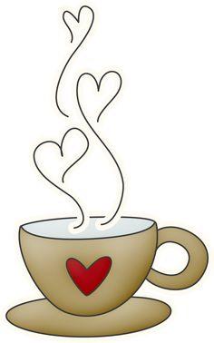 Coffee Mug With Heart PNG - 79523
