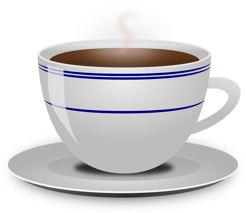 Coffee, Cup, Drink, Food, Hot, Beverage, Saucer, Steam - Coffeemug HD PNG