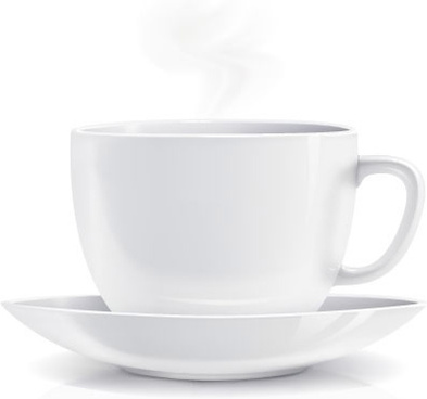 white coffee cup design vector - Coffeemug HD PNG