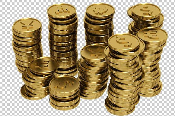 Coins - 3D Render PlusPng.com