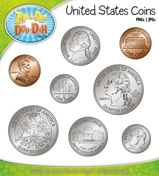 United States Coins U2014 Come In Color And Black U0026 White - Coins PNG For Teachers