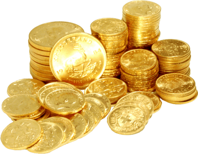 Gold Transparent PNG Sticker - Coins PNG HD