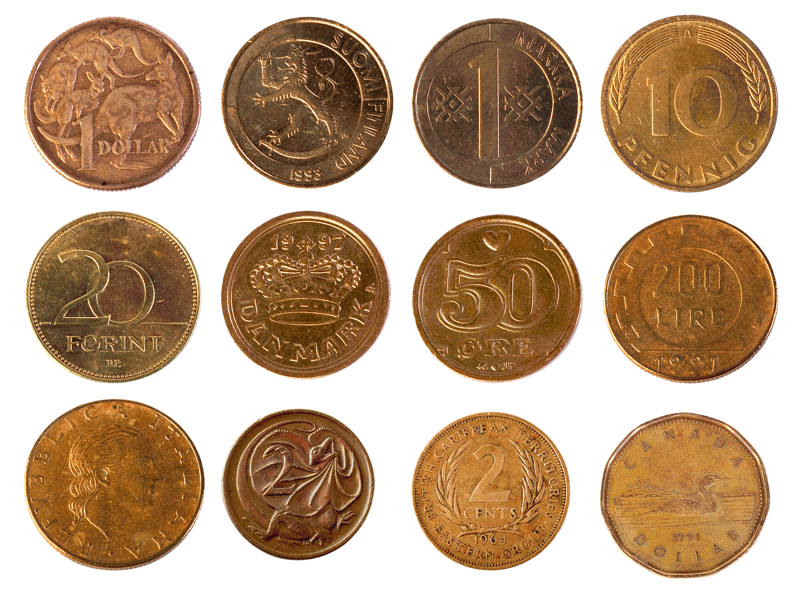 Money coins PNG image