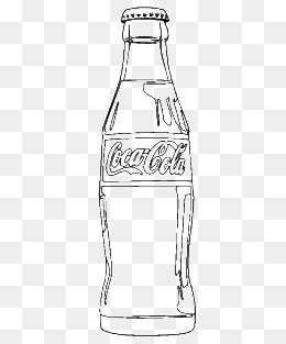 Coke PNG Black And White - 142931