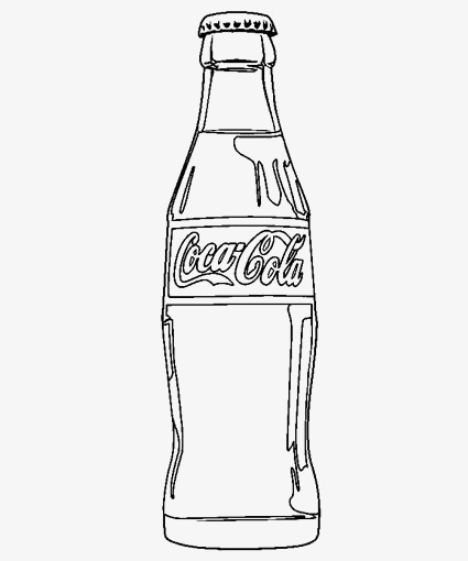Coke PNG Black And White - 142946