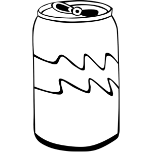 Coke PNG Black And White - 142940