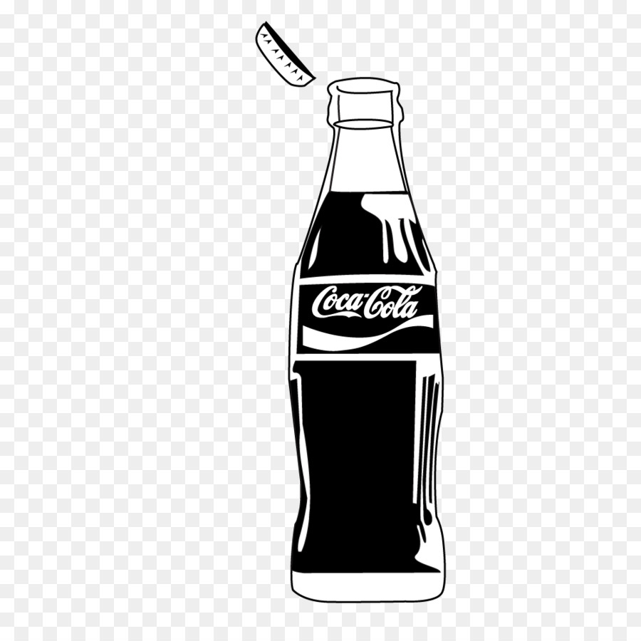 Coke PNG Black And White - 142945
