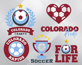 Colorado Rapids SVG, Colorado Rapids Files, Football Soccer Printables,  Vector Files, dxf - Colorado Rapids Logo Vector PNG