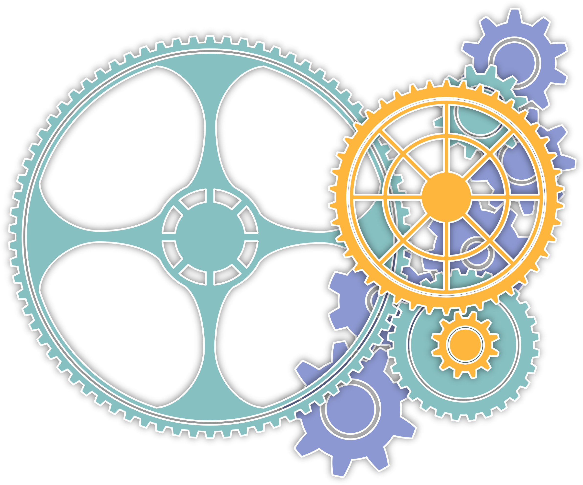 BIG IMAGE (PNG) - Colorful Gears PNG