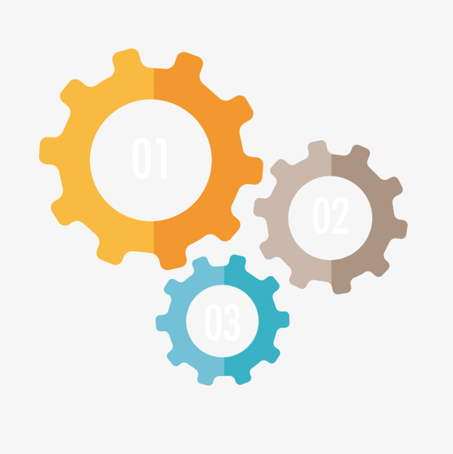 Color gears Free PNG and Vector - Colorful Gears PNG