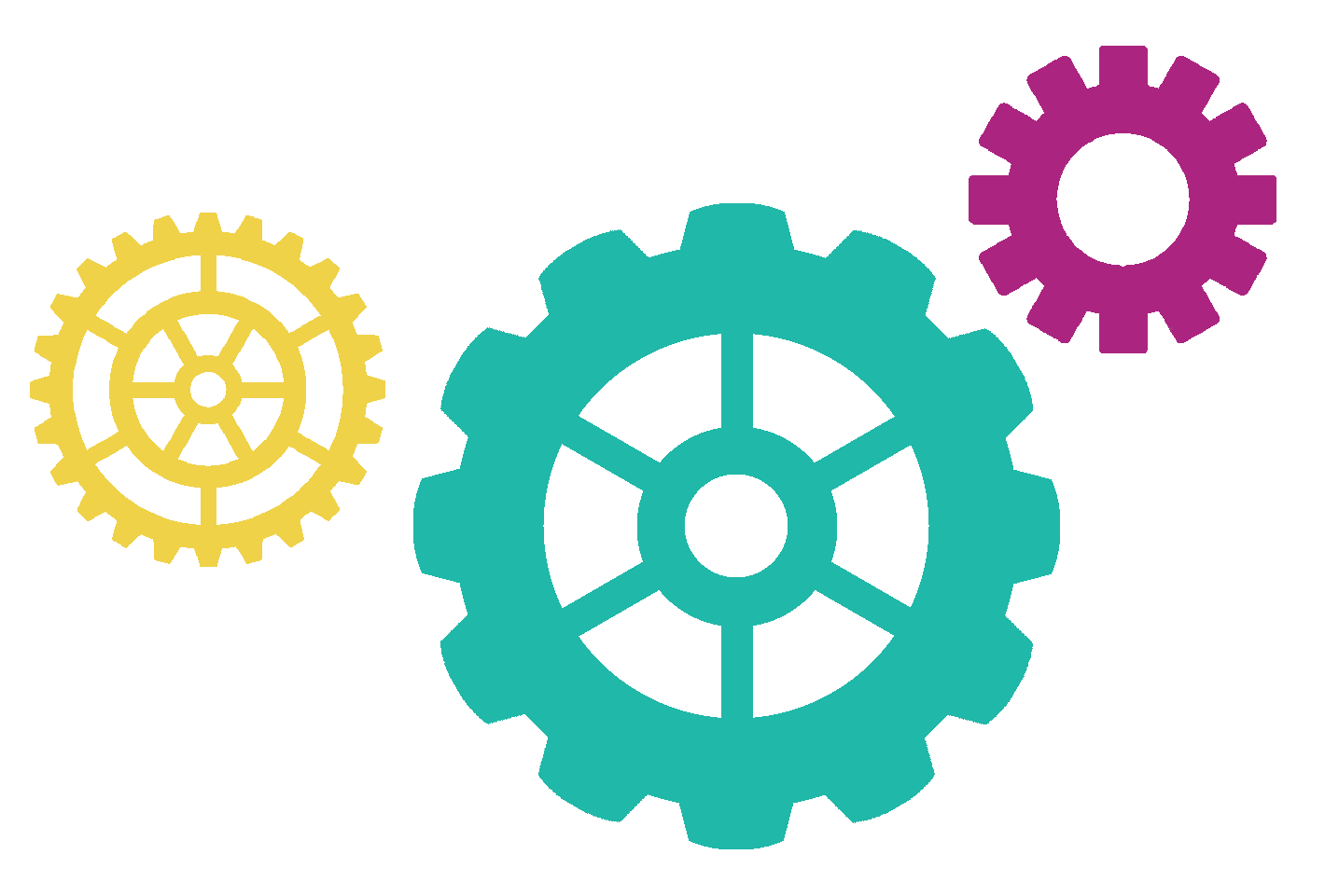 Colorful Gears PNG - 89158