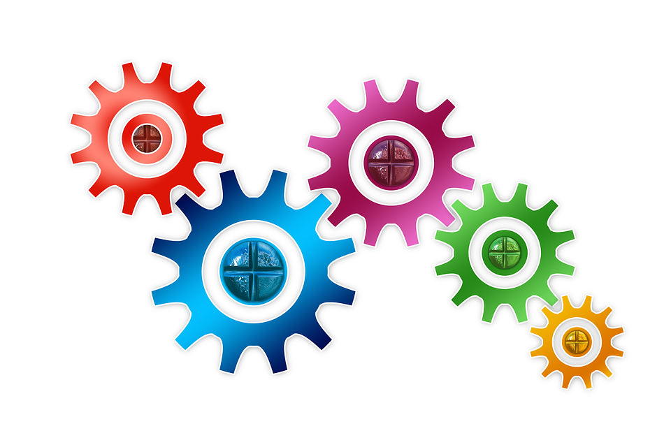 Mechanics, Gear, Gears, Blue, Way Of Thinking - Colorful Gears PNG
