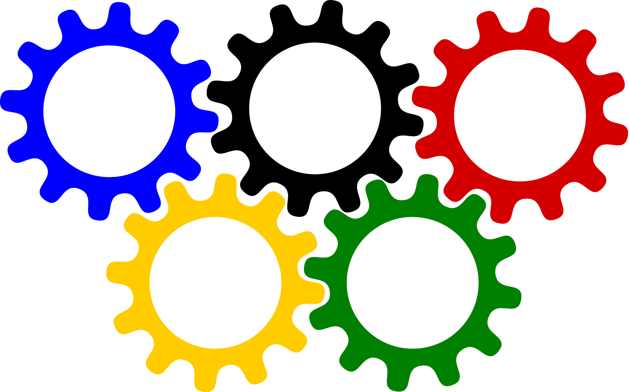 Open PlusPng.com  - Colorful Gears PNG