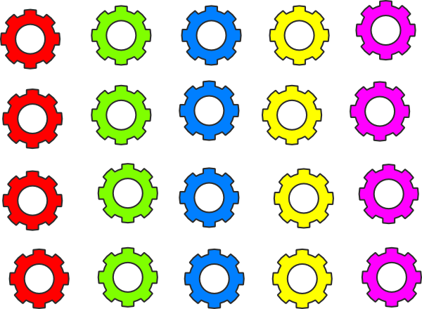 Colorful Gears PNG