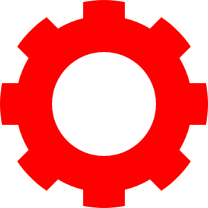 Red Gear Clip Art - Colorful Gears PNG