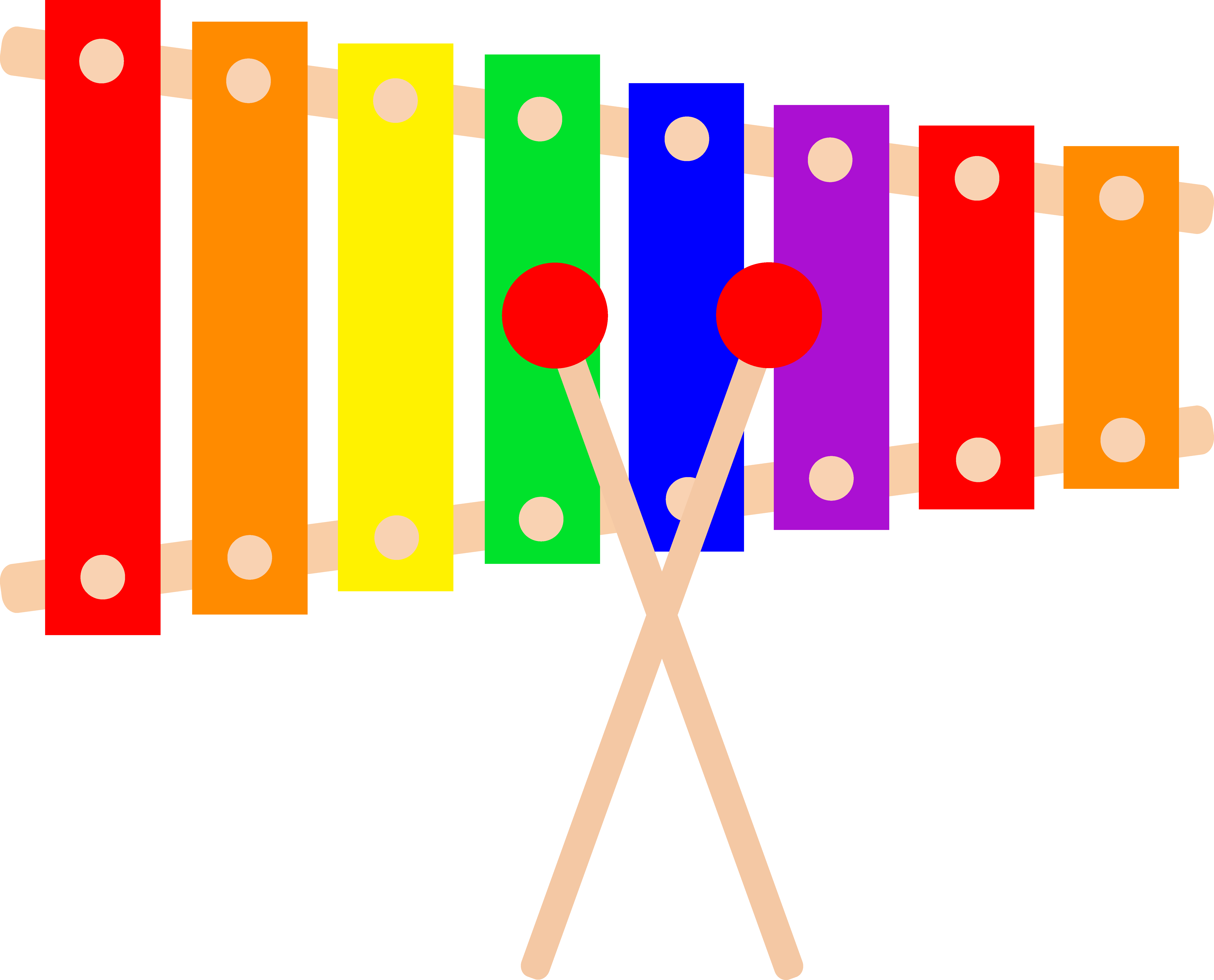 Colorful Xylophone Design Free Clip - Xylophone PNG