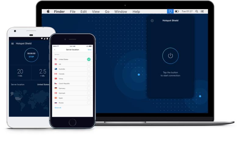 Hotspot Shield VPN, internette anonim ve gizli bir şekilde gezinmek için  size kolay ve güvenli bir yol sunuyor. - Communication Gadgets PNG