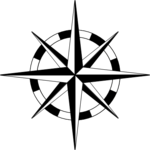 compass-rose-basic-thin-wheel. PNG - Compass Rose PNG Black And White