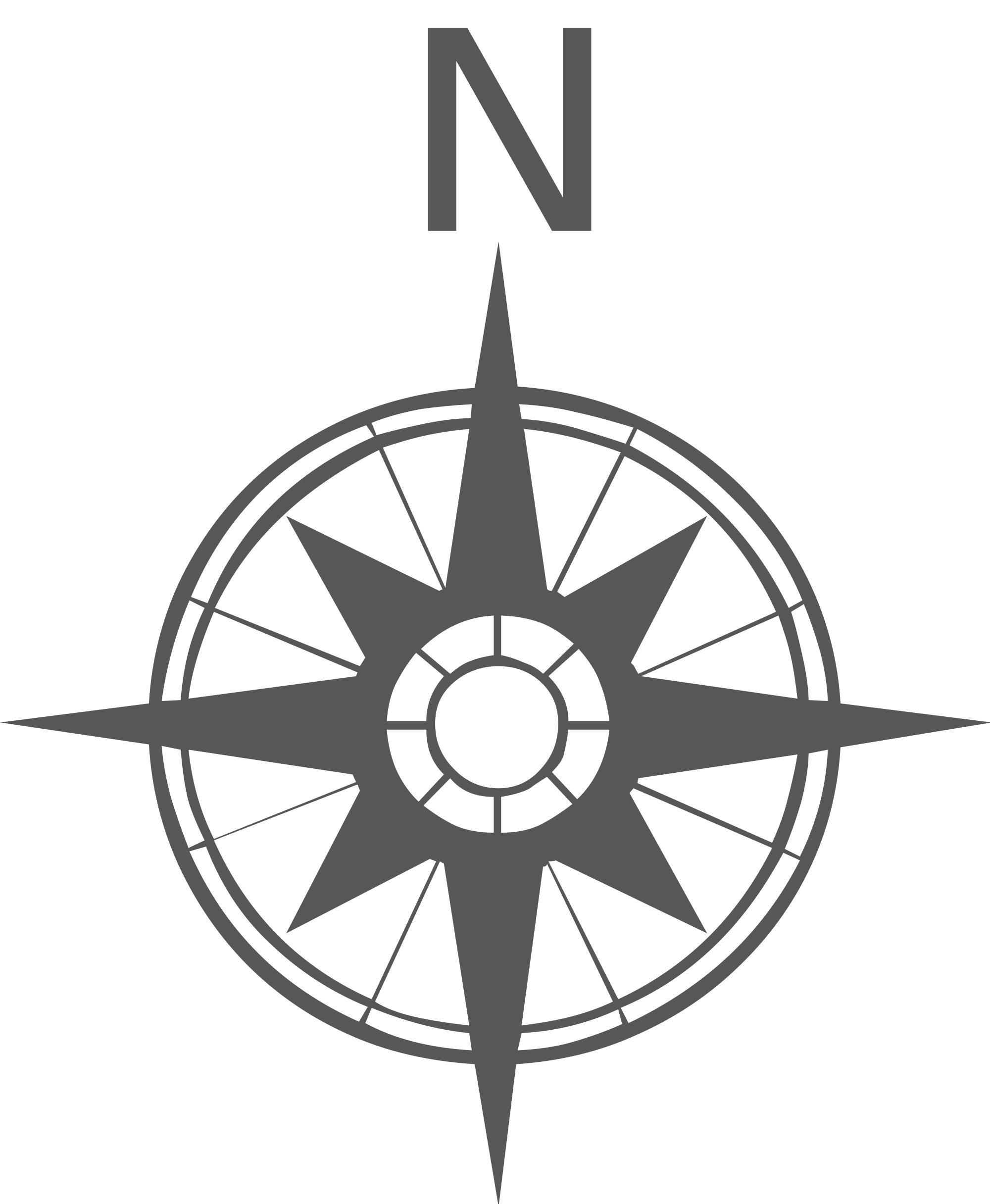 Open PlusPng.com  - Compass Rose PNG Black And White