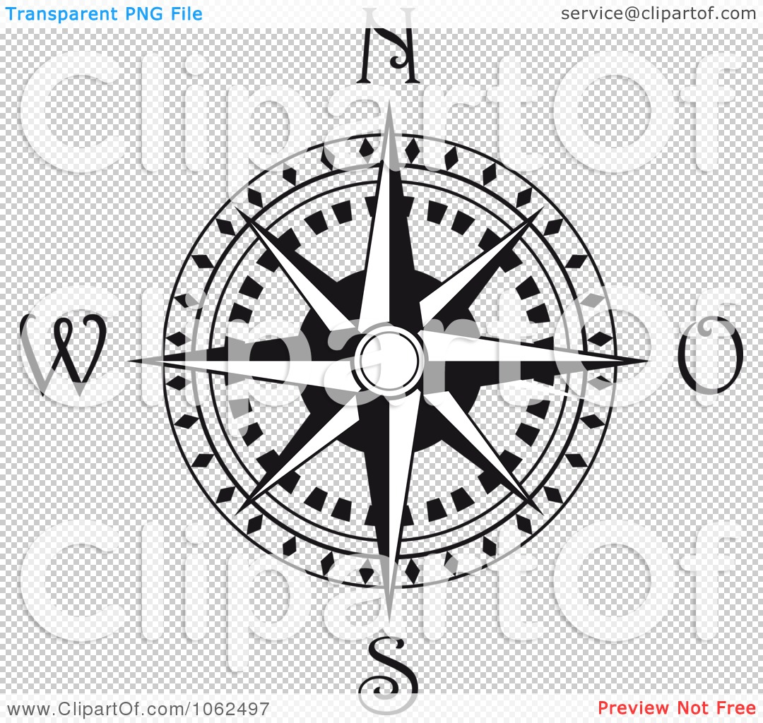PNG file has a PlusPng.com  - Compass Rose PNG Black And White