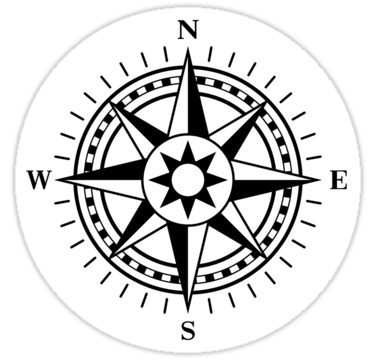 Sizing Information - Compass Rose PNG Black And White