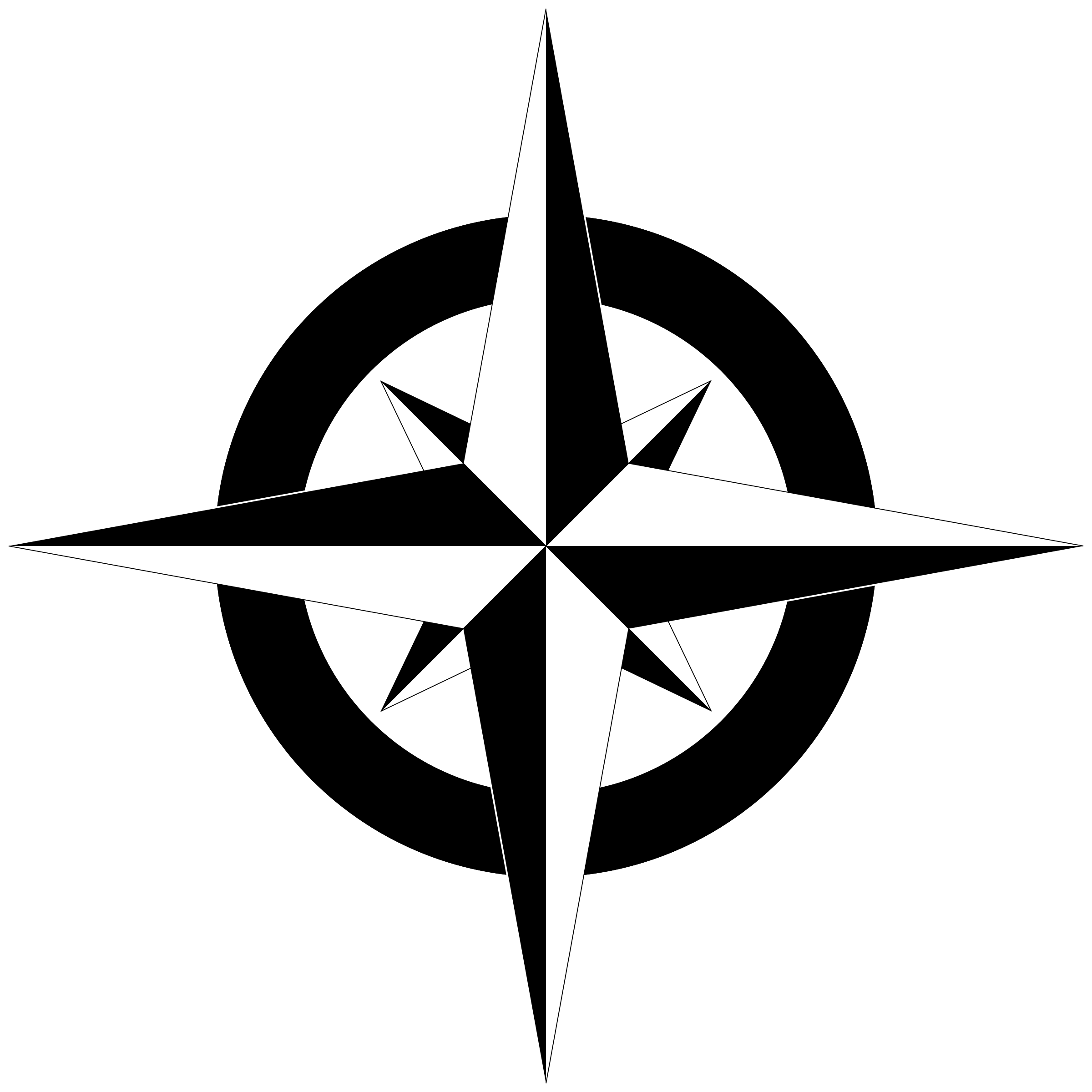 This free Icons Png design of Compass Rose Bu0026W PlusPng.com  - Compass Rose PNG Black And White