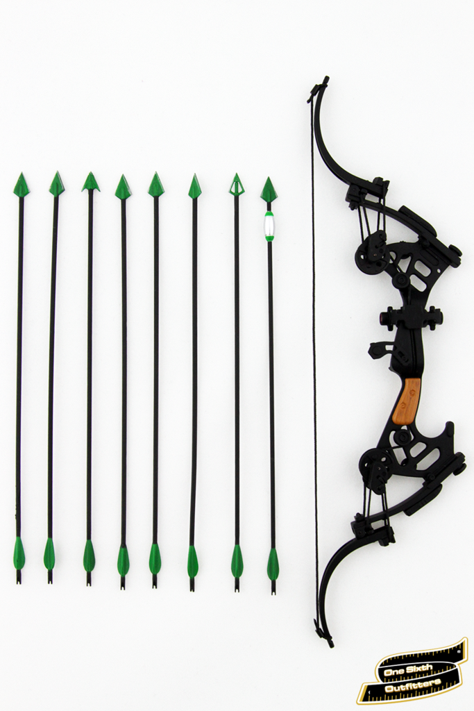 1/6 Scale Green Arrow Compound Bow - Compound Bow And Arrow PNG
