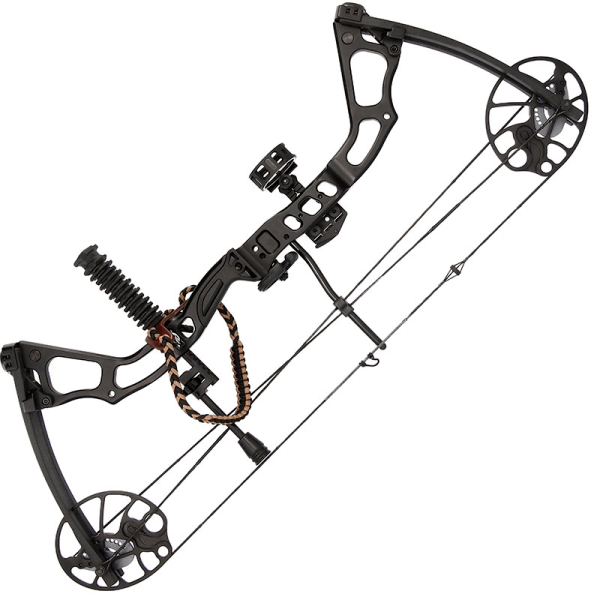 Anglo Arms 15-70lb Adjustable Black u0027Chikarau0027 Compound Bow Set - Compound Bow And Arrow PNG