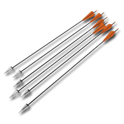 Arrows compound standard orange 256 - Compound Bow And Arrow PNG