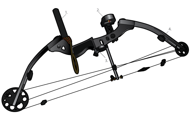 COMBAT AUSTRALIA - Compound Bow And Arrow PNG
