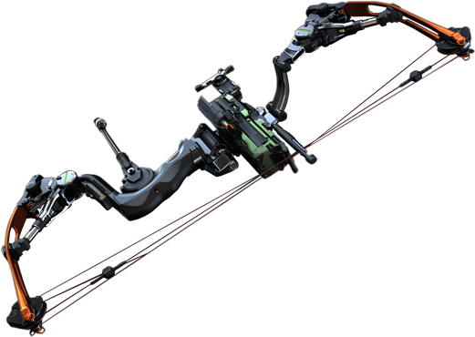 Dom4.png PlusPng.com  - Compound Bow And Arrow PNG